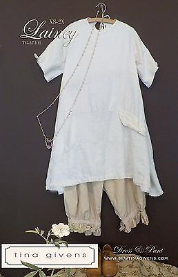 - LAINEY Short Sleeve TUNIC & PANTS Sewing Pattern by Tina Givens,Lagenlook Style