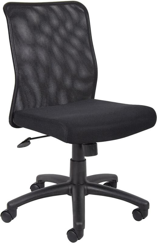 Boss Office Products Budget Mesh Task Chair Without Arms In