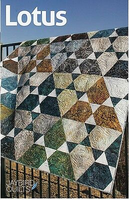 Lotus Quilt Pattern ~ Julie Herman ~ uses Jaybird Hex N More ruler ~ -