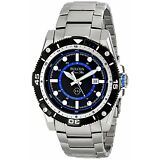 Bulova Men's 98B177 Marine Star Quartz Black and Blue Dial Stainless Steel Watch