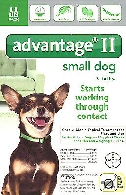 Advantage II For Small Dogs 3-10 lbs, 2 Month Supply