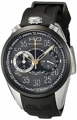 Bomberg Men's NS44CHTT.0081.2 1968 44mm Chronograph Black Dial Rubber Watch