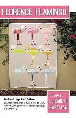 Florence Flamingo by Elizabeth Hartman Quilt Pattern ~ Pieced Bird Animal