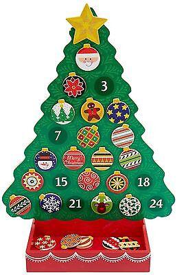 Wooden Advent Calendar Christmas Melissa & Doug Countdown Christmas Xmas 13571