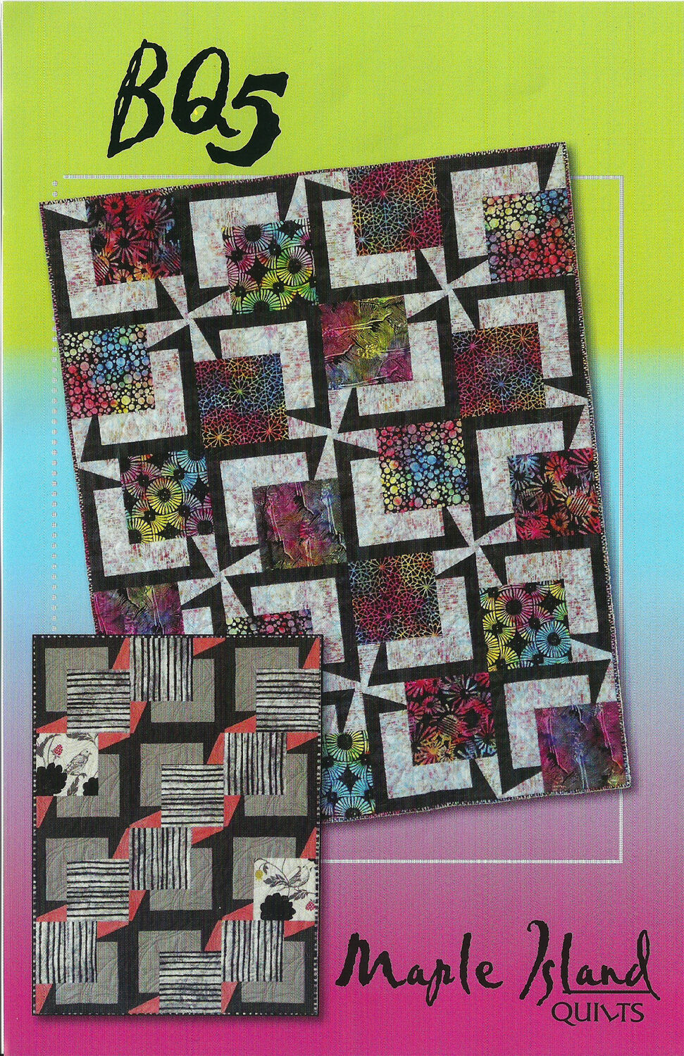 BQ 5, Quilt Pattern Maple Island Quilts, DIY Quilting Sewing