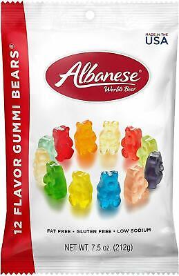 Albanese Worlds Best 12 Flavor Gummi Bears 7.5 oz Gummy - SELECT QUANTITY