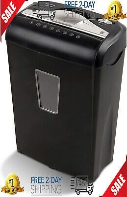 Micro-cut Paper Shredder Credit Cards Small Paper Clips Staples And More