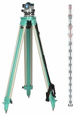 Auto Level Bosch Gol 32d With Aluminium Tripod 4 Meter Surveying Rods Combo