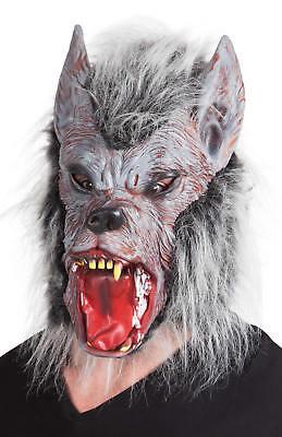 Maske Werwolf mit Fell Latex Horror Grusel Karneval Fasching Halloween Masken