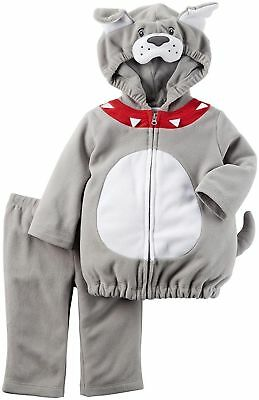 NEW Carter's Baby Boys' Costumes  GREY DOG 18 MONTHS CHLOTHES TODDLER BULLDOG (Baby Bulldog Costume)