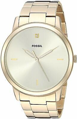 Fossil FS5457 Men's Minimalist Gold-Tone Dial Gold-Tone 44mm Watch