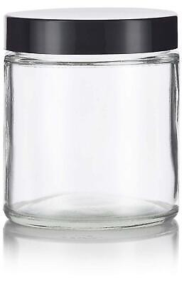 Glass Jar in Clear with Black Foam Lined Lid - 4 oz / 120 ml
