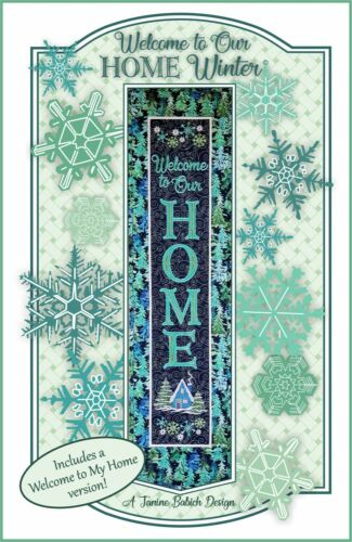 Welcome To Our Home Winter by Janine Babich Design
