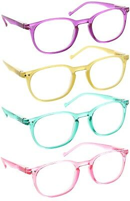 Reading Glasses Readers Women Clear Lens Translucent Colorful Spring (Colored Translucent Glasses)