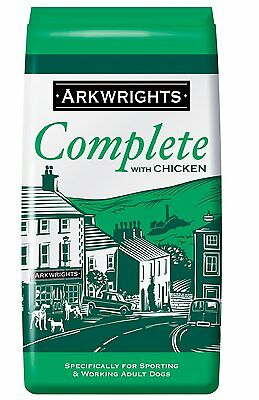 Arkwrights Adult Complete Chicken 15kg - for Sporting & Working, Racing Dog Food