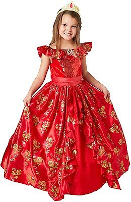 Disney Deluxe Mädchen Elena der Avalor Prinzessin Cartoon Kostüm Kleid Outfit ()