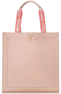 Michael Kors Blush beige peach faux leather tote bag open top purse handbag NEW!