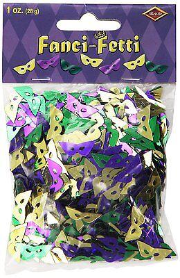 Fanci-Fetti Mardi Gras Masks Table Decoration - Mardi Gras Table Decor