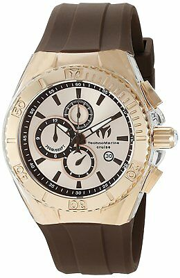 Technomarine TM-115217 Cruise Men's 45mm Star Chronograph Rose-Tone Brown Watch