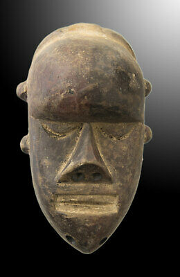 Mask Pasport Diminutive African Salampasu DRC Wood 13cm Art First 16705