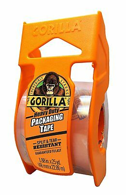 """Gorilla Glue 6034002 Heavy Duty Packing Tape w/ Dispenser, 1.88"""" x 25 yd, Clear, used for sale  Shipping to India"""