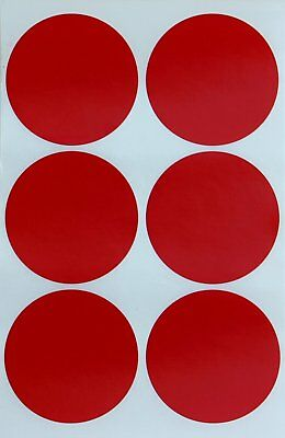 Color Round 2 Inch Red Dot Labels 50mm Dots Stickers Permanent Adhesive 540 Pack
