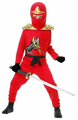 Charades Ninja Avenger Series II Red Armor Boys Halloween Costume 84399AV