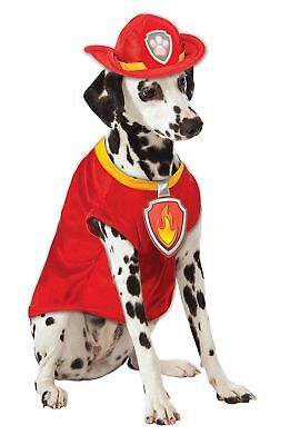 Paw Patrol Marshall The Fire Dog Firefighter Pet Halloween Costume - Firefighter Dog Costume