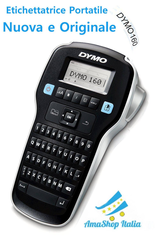 Etichettatrice Portatile DYMO LabelManager 160 e Cartuccia Nastro da 12 mm x 3 m