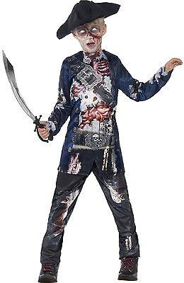 Zombie Rotten Piraten Halloween Kostüm 4-14 Jahre (Jungen Piraten-halloween-kostüm)