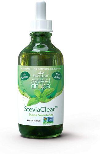 Sweetleaf Sweet Drops Liquid Stevia Sweetener CLEAR 4 OZ LARGE