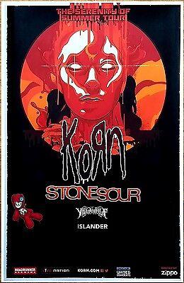 KORN   STONE SOUR   YELAWOLF Serenity of Summer Tour 2017 Ltd Ed RARE Poster!