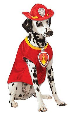 Rubies Paw Patrol Marshall The Fire Dog Firefighter Pet Halloween Costume - Firefighter Dog Costume