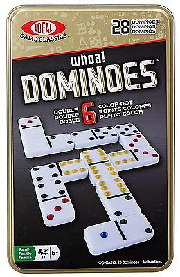 Ideal Whoa! Double 6 Color Dot Dominoes, Help Children Make Matches Easier New