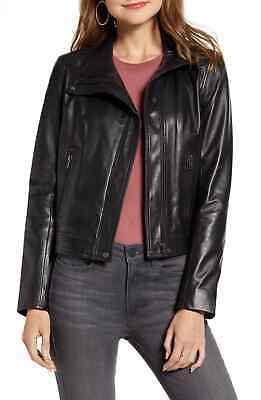 Used, Black Leather jacket CHELSEA28 Women's Moto Jacket Sz Small for sale  Shipping to India