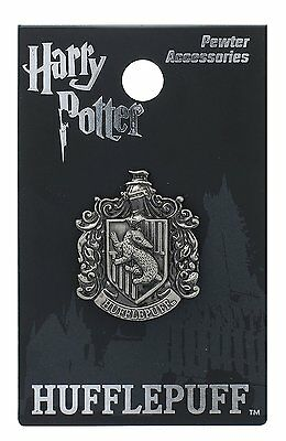 Harry Potter Hufflepuff School Crest Pewter Lapel Pin
