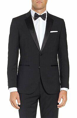 BL401 Men's Suit Classic Fit Two-Piece Notch Lapel Formal Tuxedo Suit - (Classic Notch Tuxedo)