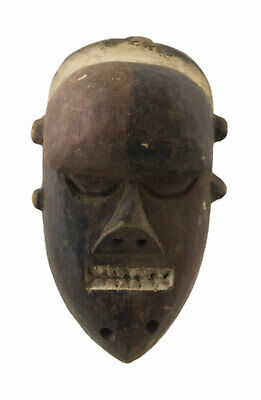 Mask Salampasu Passport Diminutive African DRC Wood 13cm Art First 16722