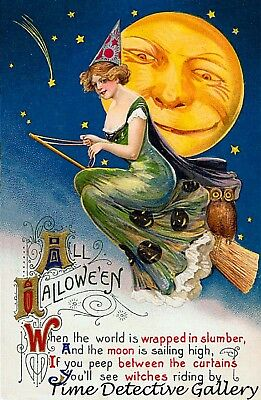 Vintage Halloween Graphic Print #34 - Available in 4 - Vintage Halloween Graphics