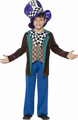Children's Deluxe Mad Hatter Tea Party Costume ~ - Deluxe Tea Party Hatter Costume