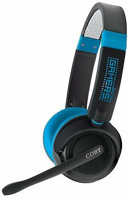 Coby CV-470 Jammerz Gamers Multimedia/PC Headphones with Boom - black and -