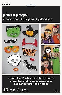 Süßes oder Saures Halloween Fotostand Requisiten x 10 Spaß Partydekorationen