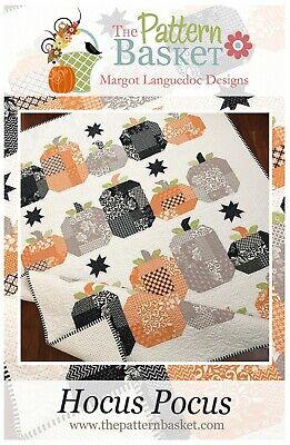 Halloween Quilt Patterns (Hocus Pocus by The Pattern Basket ~ Halloween Fall Harvest Pieced Quilt)