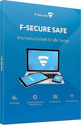 F-Secure Safe Internet Security 1 Jahr 3 Geräte PC Mac Android iPhone iPad