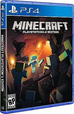 Minecraft Playstation 4 Ps4 Games Brand New Video Game Sealed Free Shipping
