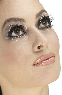 Künstliche Wimpern Burlesque Drag Queen Jungesellen Kostüm (Silber Burlesque Kostüm)