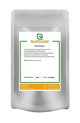 250 g Zitronensäure Lebensmittelqualität E330, Bio, Entkalker