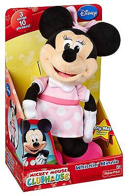 Fisher Price Disney Minnie Mouse Silly Whistler Plush Ages 2+ New Soft Toy Play