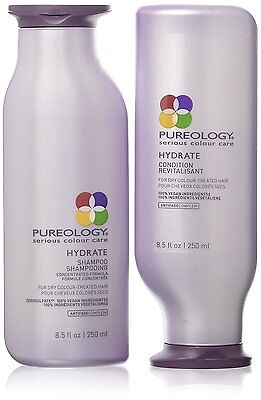 Pureology Hydrate Shampoo and Conditioner Set, 8.5 oz --NEW & FRESH--