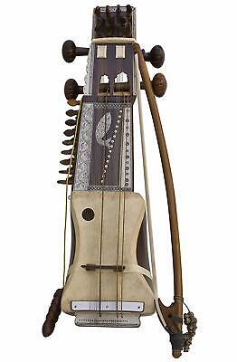 Classical Indian Folk Musical Instrument Handmade Wooden Sarangi Full Size Indian Folk Instruments